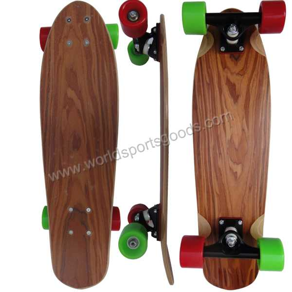 Colorful fish skate board 26 inch PU wheel skateboard for kids
