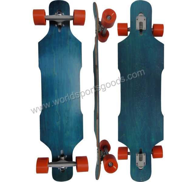 High Quality Original Longboard Skateboard with Special Cut Griptape