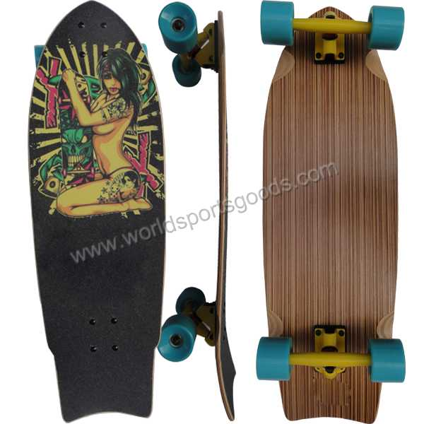 wholesale skateboards 32'' fish canadian maple skate board for children