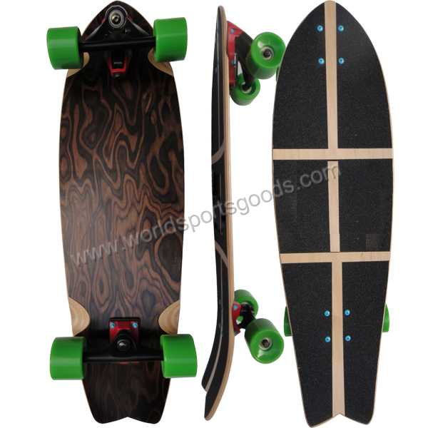 Wholesale 4 wheels canadian maple fish skateboard